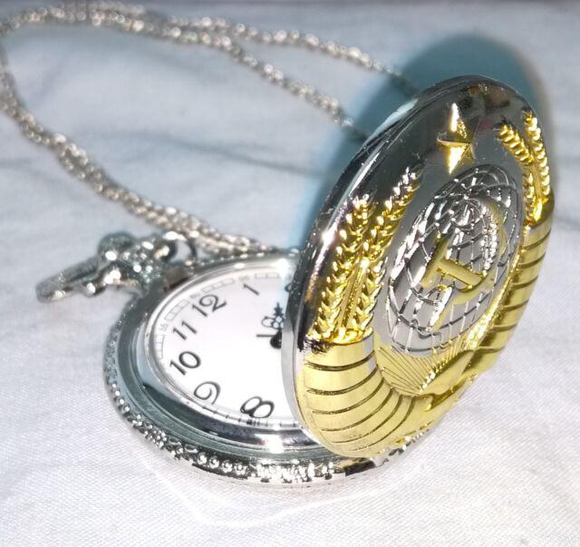 Soviet Pocket Watch Gold & Silver Clock Union USSR Vintage Putin Russia CCCP old