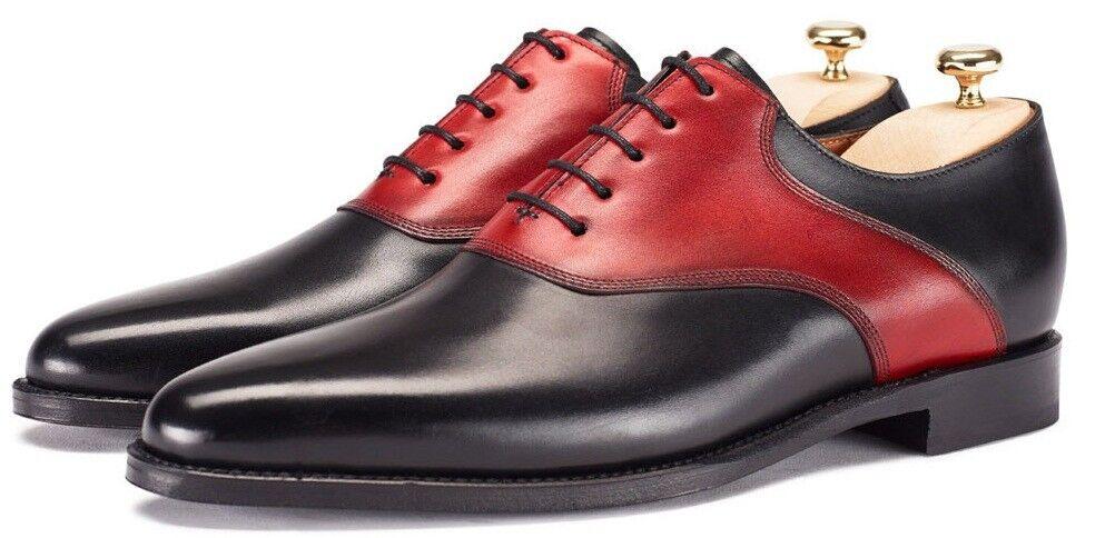botas para hombre Cuero Genuino Hecho a Mano Cuero Casual Oxfords Formal Vestido Zapatos