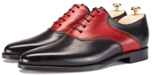 Mens Genuine Leather Formal Boots Handmade Casual Oxfords Leather Dress Shoes