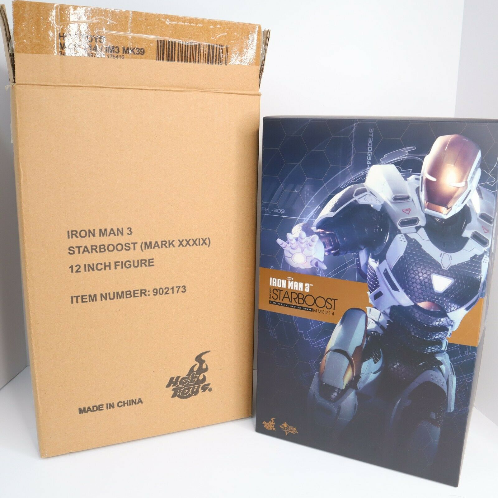 HOT TOYS MMS 214 Iron Man MK Mark XXXIX 39 Starboost 1/6 Scale Figure on eBay thumbnail