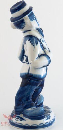 Gzhel Gentleman Monkey Figurine  handmade souvenir