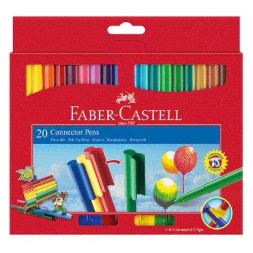 FABER-CASTELL Fasermaler 20er Kartonetui CONNECTOR Pen