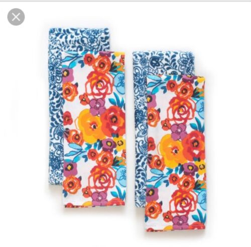 2 packs of 2SOLD OUT NEW The Pioneer Woman Flea Market kitchen towels set of 4