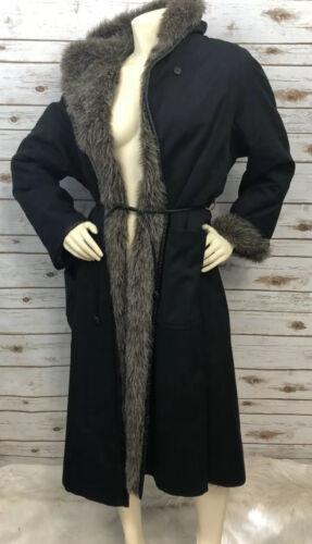 Vtg 1960's BONNIE CASHIN Black full length Coat fu