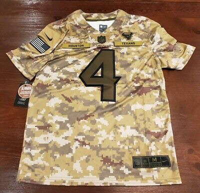 Nike Houston Texans Salute To Service Deshaun Watson Jersey #4 NWT M Medium   eBay