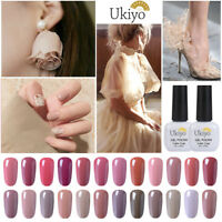 Ukiyo 8ml Soak Off Nude/Beige Series Color Gel Polish UV Lamp Top Base Coat DIY