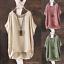 Women Summer Batwing Short Sleeve Blouse Casual Loose Tops Shir T-shirt 3 Colors