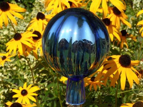 Rosenkugeln  Glaskugeln Gartenkugeln Rosenkugel 8cm Eisblau blau Garten//Balkon