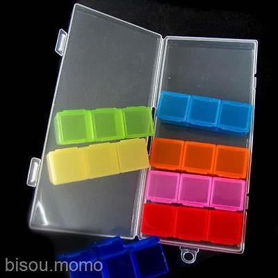 Seven Days Plastic 21 Small boxes Health Care Pill Medicine Storage Case Holder