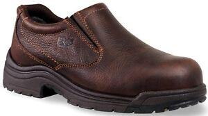 Hombre 53534 Titan Safety-Toe Slip-On, Camel Brown, 9.5 M