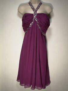Star-Julien-MacDonald-Purple-Lined-Jewelled-Halterneck-Dress-Size-12-365g