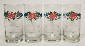 """10 oz. Glassware Tumbler Symphony Corelle by Corning 5 1/2"""" Tall - Lot of 4"""
