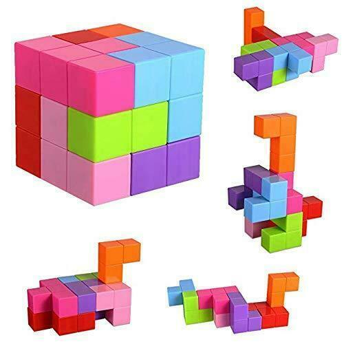 Magnetic Blocks Toy Construction Blocks Bricks Magnet Girls Boys Toys 6x6x6cm