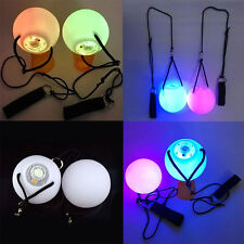 Professional Pair LED POI Balls for Belly Dance Dancing Level Hand Props