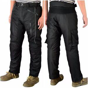 Mens-Motorbike-Motorcycle-CE-Armoured-Waterproof-Cordura-Textile-Pants-Trousers