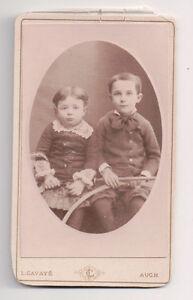 Vintage-CDV-French-Aristocratic-Children-L-Cavaye-Photo-Auch