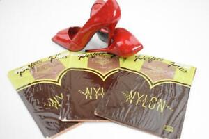 SASSY 3 Pr HANES 615M TOWN TAUPE Vintage Nylon Stockings