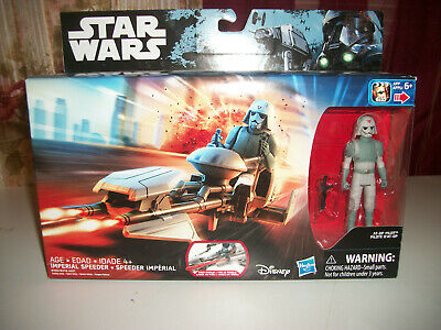 Star Wars Imperial Speeder AT-Diamond Pearl Pilot Action Figure Set New In Box-New