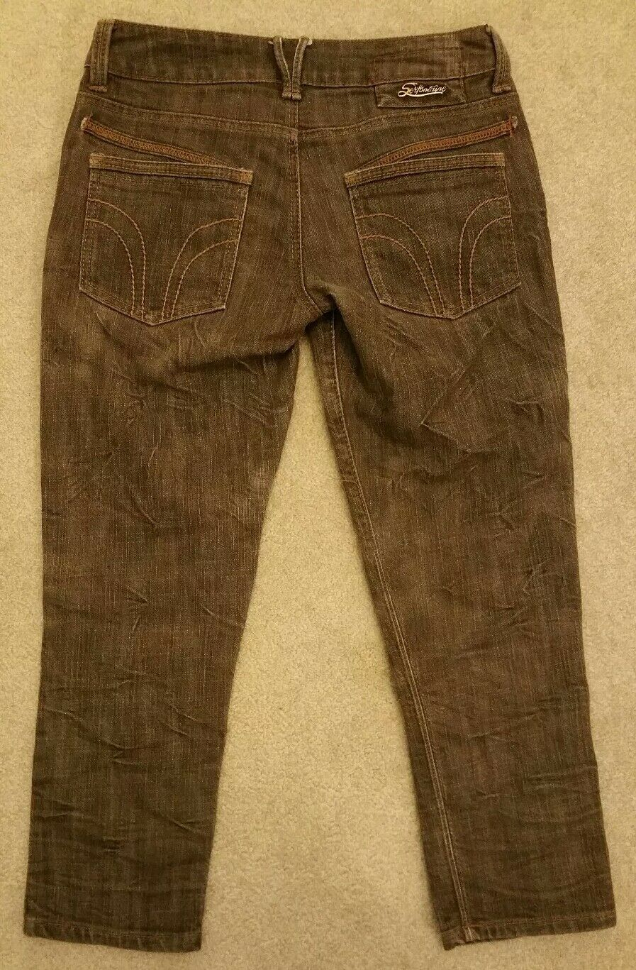 SERFONTAINE womens CASBAH CROPPED brown size 26 W77511R