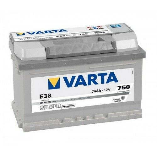 574 402 075 067 Car Battery 12V 74AH 100 Varta E38 Silver Dynamic 096