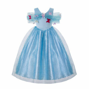 Toddler-Girls-Cinderella-Princess-Dress-Party-Gown-Cosplay-Costume-Fancy-Outfits