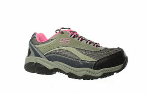 Skechers-Womens-Doyline-Gray-Pink-Safety-Shoes-Size-8-1452575