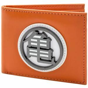 Official-Dragon-Ball-Z-Kame-Turtle-Gi-Symbol-Orange-ID-amp-Card-Wallet-SECOND