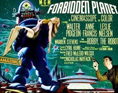 "Forbidden Planet  Poster Replica Print 14 x 11/"""