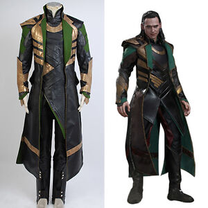 Thor 2 ii the dark world loki cosplay costume battle attire outfit image is loading thor 2 ii the dark world loki cosplay solutioingenieria Gallery