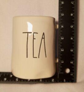 """RAE DUNN White """"TEA"""" Coffee Tea Cup Cocoa Mug Artisan Collection By Magenta 16oz"""