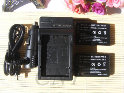 Reemplazo de la batería 1800mAH//Cargador para Sanyo Sanyo Xacti DMX-TH1 VPC-TH2 DB-L50
