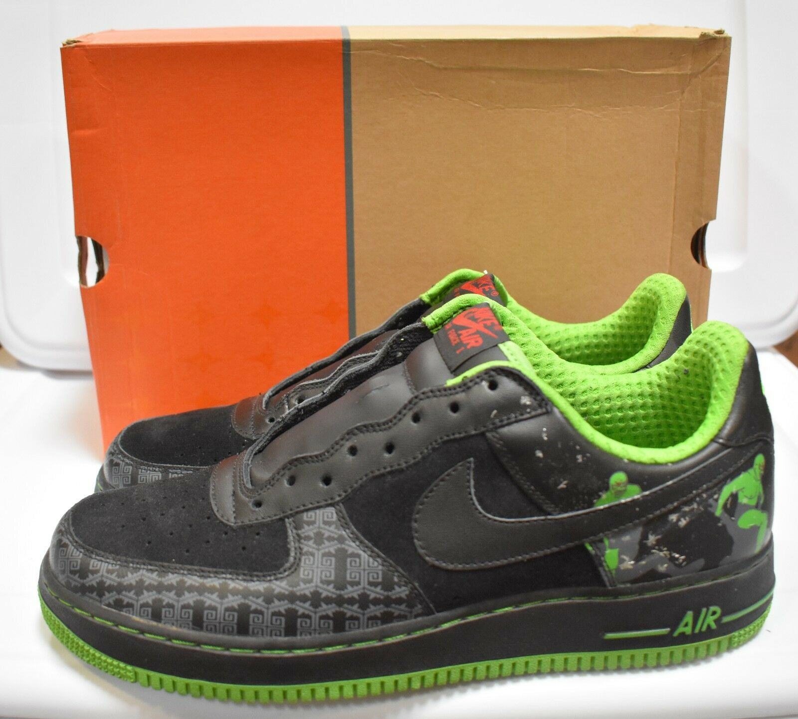 Nike Air Force 1 Premium Black    Black Green  Lucha Libre  313641 002 Size 11 8f8409