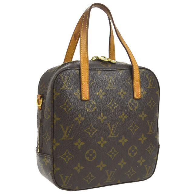 f2bd6075508 Authentic Louis Vuitton Monogram Spontini Hand Shoulder Bag 2way M47500