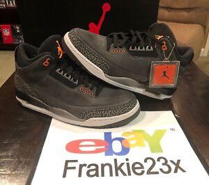 e8b0f2a6fa5a 2013 Nike Air Jordan 3 III Retro Fear Cement Grey Black Orange Mens ...