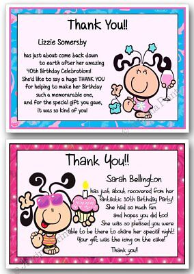 Personalised Adult Birthday Party Invitations /& Thank You Cards18th 21st...