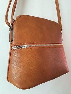 Crossbody Faux Small Messenger Bag Women's Tan Handbag Leather Ladies XqB6HE