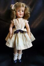 VINTAGE TOY 1950'S 12 INCH IDEAL SHIRLEY TEMPLE DOLL ORIG CLOTHES / SHOES VG CON