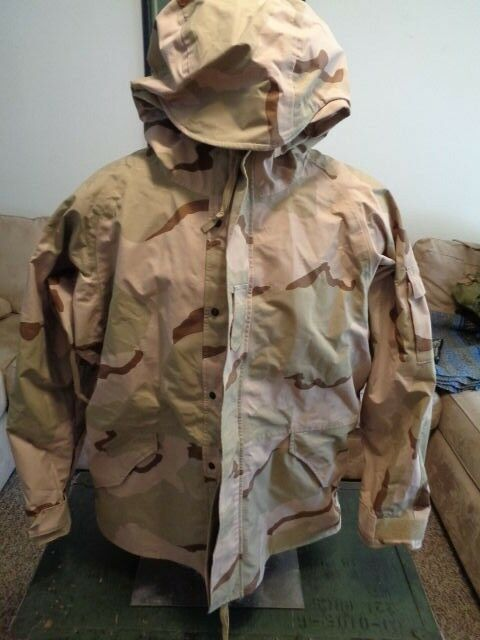 US ARMY GORE-TEX COLD WEATHER PARKA CAMO  NICE NICE NICE XL 42d703
