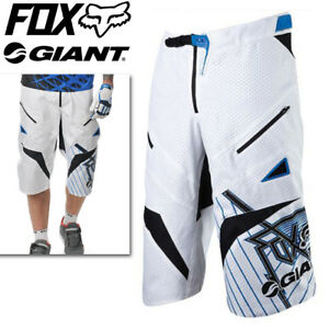 Fox Giant Demo DH MTB Baggy Cycling Shorts - White Blue - 34 36 38 ... e0051a0eb
