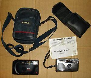 2-Stueck-Foto-Kamera-Fotoaparat-Kodak-835-AF-und-Traveler-AF-mini-Autofocus