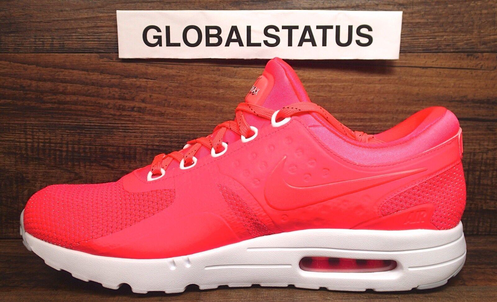 7e50a43aa63f Men Nike ID Air Max Zero Solar Red White Custom Running Shoes 853860 ...
