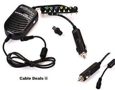 Universal Laptop Notebook Car Charger DC Power Adaptor