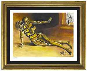Salvador-Dali-Signed-Hand-Numbr-Ltd-Ed-034-Anthropomorphic-Cabinet-034-Print-unframed