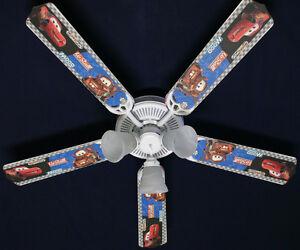 New disney cars lightning mcqueen mater ceiling fan 52 ebay image is loading new disney cars lightning mcqueen mater ceiling fan aloadofball Gallery