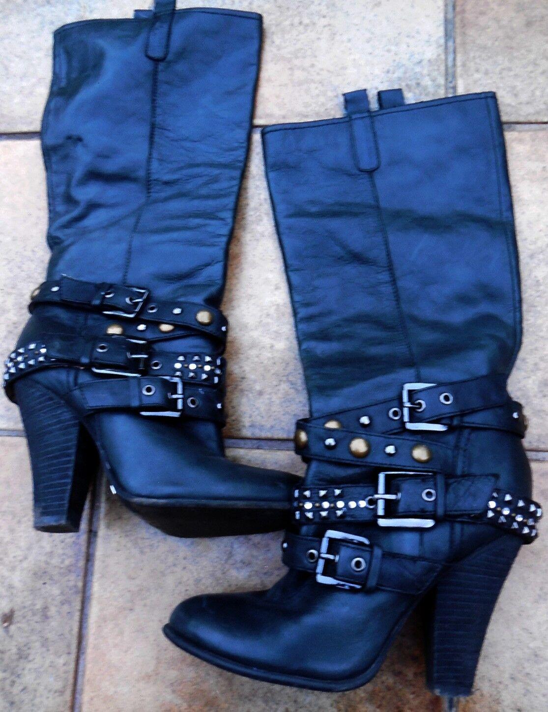 Ausgefallene Buffalo Rocker Stiefel für Harley Freunde in schwarz Gr 37,5