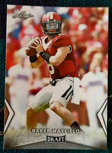 2018 BAKER MAYFIELD Oklahoma/Cleveland Browns Leaf ROOKIE card. Mint