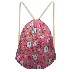 Small Drawstring Bag Women Yoga Backpack Kid Butterfly Print Travel Storage Bags