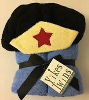 Yikes Twins Superhero Blue Cotton Hooded Towel Baby Child Brand