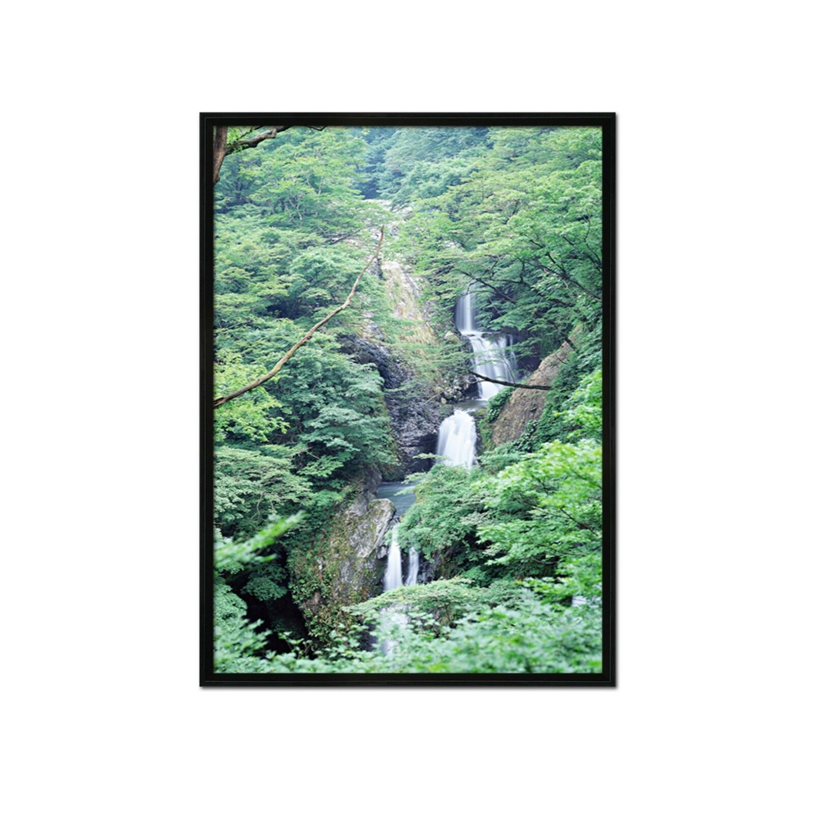 3D Grove Waterfall 55 Fake Framed Poster Home Decor Print Painting Unique Art