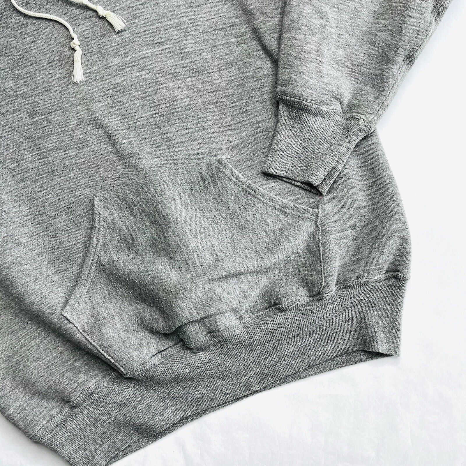 Vtg 70s Russell Athletic Tri Blend Hoodie, Heavyw… - image 8